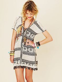 Love the print and easy bohemian attitude