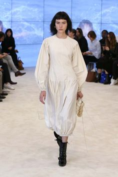 Can We Talk About the Sleeves at Loewe's S/S 17 Runway Show? via @WhoWhatWear
