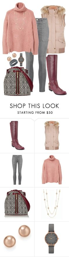 """""""Untitled #1376"""" by beng-gallo ❤ liked on Polyvore featuring Isaac Mizrahi, Current/Elliott, MANGO, Elizabeth and James, Talbots, Bloomingdale's, Skagen, Swarovski, women's clothing and women"""