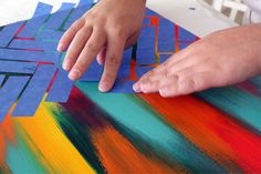 canvas+painting+ideas | DIY Artwork - Easy Painting Ideas - Paint Projects