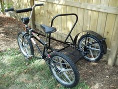 1980 Mongoose Motomag Sidehack - BMXmuseum.com Motocross Racing, Motocross Bikes, Bicycle Sidecar, Vintage Bmx Bikes, Cool Diy Projects, Welding Projects, Bike Trailer, 4 Wheelers