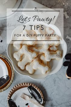 E's Puppy Pawty incl. 7 Tips for your successful DIY at home motto toddler birthday party. Puppy Birthday Cakes, Dog First Birthday, Puppy Birthday Parties, Puppy Party, 50th Birthday, Birthday Ideas, Diy Pet, Dog Themed Parties, Cake Cookies