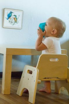 Montessori Baby -- Mornings at the Weaning Table. Montessori at home in the kitchen.