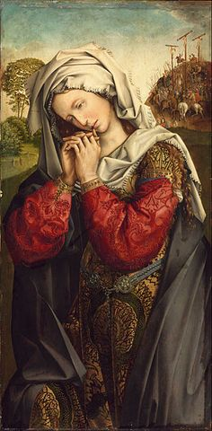 Colijn de Coter - The Mourning Mary Magdalene. c. 1500-1504. Museum of Fine Arts, Budapest.