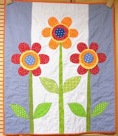 posies quilt - in different colors, B would adore this!
