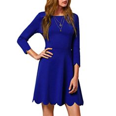 Sweet A-Line Dress (also in Wine Red, Black)