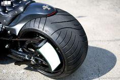 Twin Cam Softail 330 wide tire custom [ BLACK JOLI ]