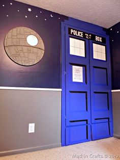Dr Who tardis door: space geek bedroom tardis and death star