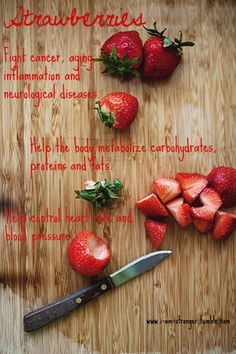 Strawberries are possibly the most irresistible and beautiful fruits. Everything about the strawberry be it color, texture or flavor is appealing which. Healthy Tips, Healthy Choices, Healthy Eating, Healthy Recipes, Healthy Foods, Healthy Fruits, Clean Eating, Holistic Nutrition, Health And Wellness