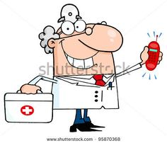 Smiling Male Doctor With A First Aid Kit And Phone Ringing.Vector Illustration