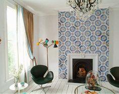 AdC l'Atelier d'à Côté : aménagement intérieur, design d'espace et décoration: Habiller une crédence, un sol, une douche, un mur... Amusez-vous avec les carreaux de ciment !!!