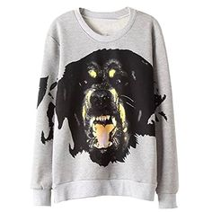 Partiss Women's Dog Head Print Pullover