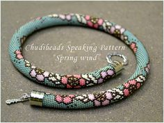 Spring Wind - Chudibeads speaking PATTERN for bead crochet necklace