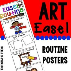 FREEBIE! Art easel routine is a fabulous, visual way to teach and remind students how to paint and create at the easel independently!