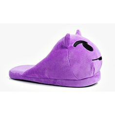 Boohoo Devil Emoji Slipper ($20) ❤ liked on Polyvore featuring shoes, slippers and purple