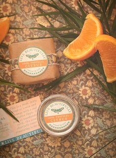 Natural Lip Balm Cool Tropical Citrus by LiveBeautifullyBody