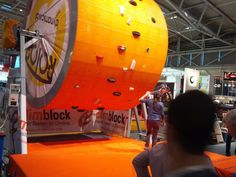 Climblock Rotor at ISPO 2013. Interesting.