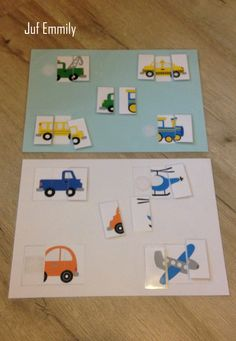 Puzzels in thema Verkeer/ voertuigen (Juf Emmily) Kindergarten Art Projects, Kindergarten Learning, Preschool Crafts, Crafts For Kids, Community Helpers Kindergarten, Transportation Theme, Steampunk Design, Task Boxes, Shop Plans