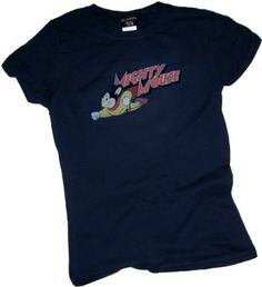 Mighty Retro -- Mighty Mouse Crop Sleeve Fitted Juniors T-Shirt $22.95