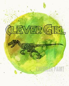 Clever Girl - Vertical Print