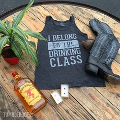 """Our """"Drinking Class"""" tank top with all of our favorite things. And the plant… Summer Nights, Summer Time, Couture High Heels, Cocktail Drinks, Cocktails, Country Concerts, Tanks, Tank Tops, Country Fashion"""