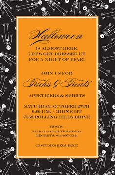 Skeletons Invitations