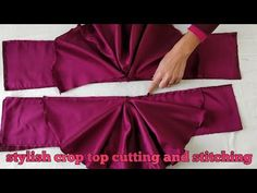 Hello everyone welcome back to our channel Kataria sisters today in this video we have showed a very cool and stylish crop top cutting and stitching full ste. Shagun Blouse Designs, Choli Blouse Design, Fancy Blouse Designs, Sleeves Designs For Dresses, Blouse Neck Designs, Stylish Tops For Women, Girls Dresses Sewing, Crop Top Designs, Kids Dress Wear