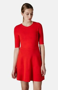Topshop- Elbow Sleeve Jersey Fit & Flare Dress $40