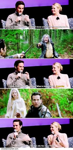 Colin O'Donoghue & Jennifer Morrison @ SCAD TV Fest on Old Hook in episode 6x12! I loved this scene so much!!