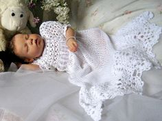 Christening Gown Blessing Dress Hand Crochet Lace by MaisondeTerre, $125.00