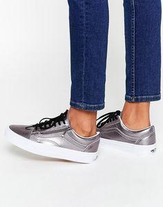 Image 1 of Vans Pewter Leather Old Skool Sneakers