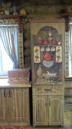 Купить Роспись холодильника С курочкой - роспись холодильника, холодильник необычный, декор холодильника