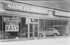 Havekost Nash Dealerships ME Detroit History, Local History, State Of Michigan, Detroit Michigan, Vintage Stuff, Vintage Cars, New Car Smell, Car Dealerships, Gas Station