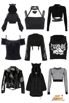 Gothic Outfits, Edgy Outfits, Cute Casual Outfits, Grunge Outfits, Aesthetic Grunge Outfit, Aesthetic Clothes, Egirl Fashion, Fashion Outfits, Mode Emo