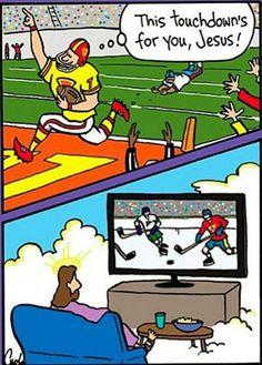 Jesus is a hockey fan