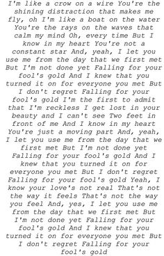 one direction fools gold lyrics