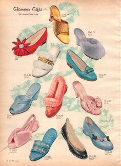 (1957) Sears Department Store Shoe Ad for house slippers...
