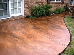 Love stained concrete