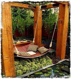 Χαλαρώστε σε μια κούνια στον κήπο ή τη βεράντα σας   Woody's Ξύλινες Χειροποίητες Κατασκευές