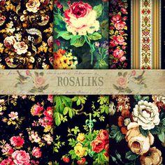 Juicy Digital Paper Pack Paper Packs Floral Digital by rosaliks, $5.00