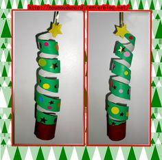 *2014* Mobile sapin de Noël facile à réaliser avec un rouleau de sopalinde la peinture et desgommettesbravo Gaspard il est magnifique. Peindrele rouleau de sopalin 5 cm en marron pour le ...