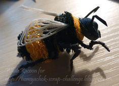 a quilled honey bee