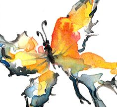 Butterfly Song ... Original Watercolor Painting by Kathy Morton Stanion  EBSQ ACEO ACETSY Team. $20.00, via Etsy.