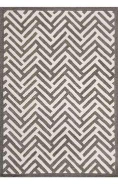 Decor Rugs Geo Shapes Classy Zigzags Grey Rug