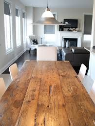Harvest table - like the colour Rustic Farmhouse Table, Rustic Bedding, Reclaimed Barn Wood, Refurbished Furniture, Hardwood Floors, Dining Table, Harvest Tables, Woodworking Ideas, Design