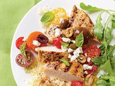 Pechugas de pollo con tomates y aceitunas Recetas