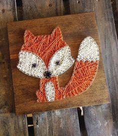String Art Strig Art Baby Fox Fox Kids von GrizzlyandCo Source by String Art Diy, String Crafts, String Art Heart, Arte Linear, Diy And Crafts, Arts And Crafts, Art Crafts, Fox Kids, String Art Patterns