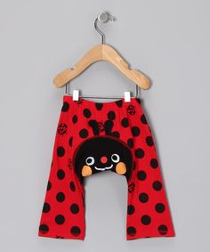 Take a look at this Red Polka Dot Ladybug Pants - Infant by KAZOO on #zulily today!