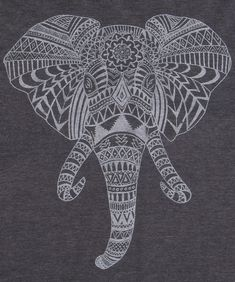 This Elephant Aztec Head T-Shirt combines an Elephant head, mixed with the  wild designs of the Aztec.