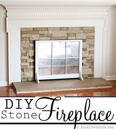 'AirStone' fireplace makeover